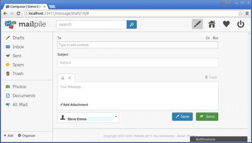 Screenshot Mailpile