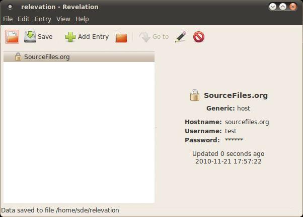 Revelation - password manager for the GNOME desktop