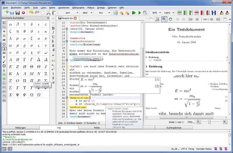 TeXstudio - integrated writing environment for LaTeX