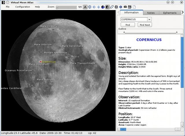 Virtual Moon Atlas For Moon Observation Or Survey