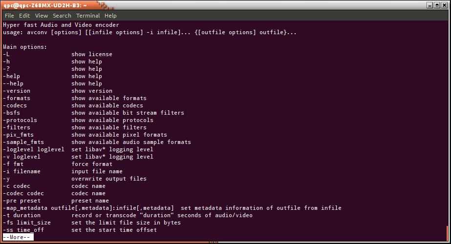 avconv - audio and video processing tools - LinuxLinks