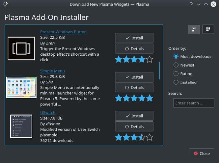 21 Excellent KDE Plasma Widgets - Page 6 of 7 - LinuxLinks